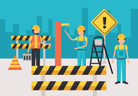 124146113-workers-construction-painting-wall-barrier-vector-illustration (1)